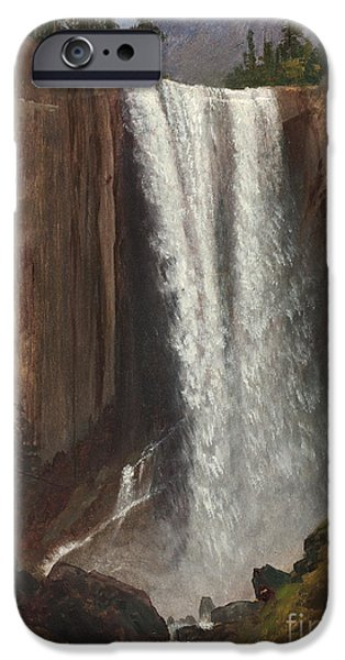 The Fall iPhone Cases - Vernal Falls iPhone Case by Albert Bierstadt