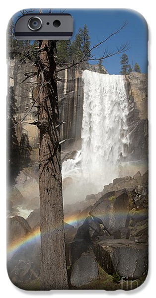 Vernal Falls with rainbow iPhone Case by Jane Rix