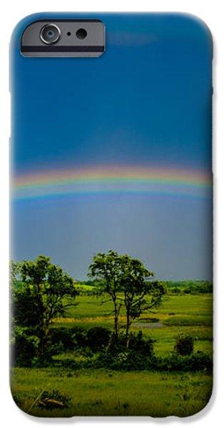 Vernon Marsh Double Rainbow iPhone Case by Randy Scherkenbach