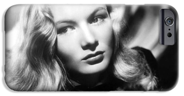 Red Carpet iPhone Cases - Veronica Lake iPhone Case by Nomad Art And  Design