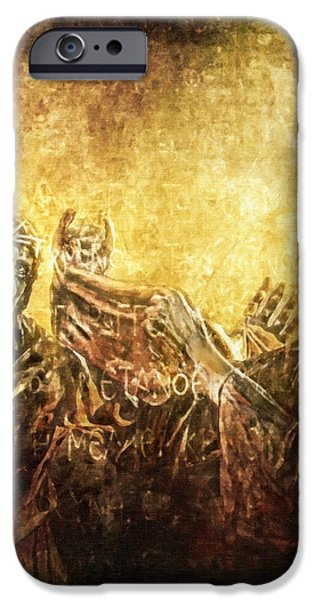 Veronica Wipes His Face Via Dolorosa 6 iPhone Case by Lianne Schneider