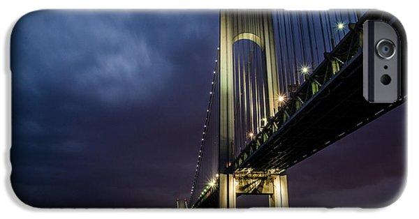 Ridge iPhone Cases - Verrazano-Narrows Bridge iPhone Case by Johnny Lam