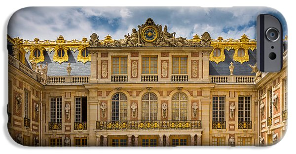 Gild iPhone Cases - Versailles Courtyard iPhone Case by Inge Johnsson
