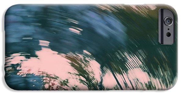 Jacaranda Tree iPhone Cases - Vertigo in Turquoise iPhone Case by Irina Wardas