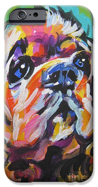 Cocker Spaniel Paintings iPhone Cases - Very Cocky iPhone Case by Lea