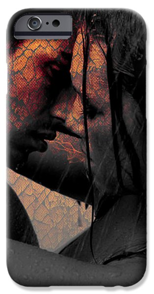 Teri Schuster Female iPhone Cases - Very Hot Lovers iPhone Case by Teri Schuster