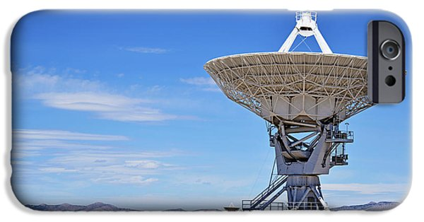 Cyberspace iPhone Cases - Very Large Array - VLA - Radio Telescopes iPhone Case by Christine Till