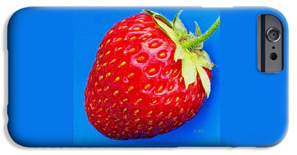 Berry iPhone Cases - Very Strawberry  iPhone Case by Chris Berry