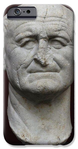 Flavius iPhone Cases - Vespasian Titus Flavius Vespasianus 9-79. Roman Emperor 69-79. Founder Of The Flavian Dynasty iPhone Case by Bridgeman Images