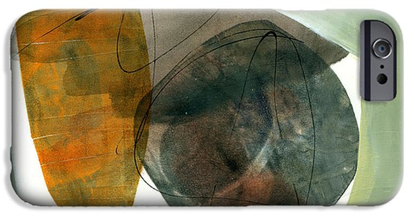 Shapes Paintings iPhone Cases - Vessel 2 iPhone Case by Jane Davies