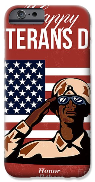 Veterans Day Greeting Card American iPhone Case by Aloysius Patrimonio