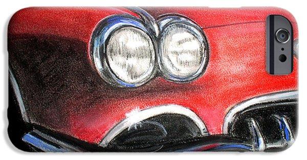 Automotive Pastels iPhone Cases - Vette iPhone Case by Michael Foltz