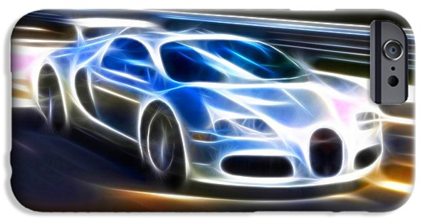Cars iPhone Cases - Veyron - Bugatti iPhone Case by Pamela Johnson