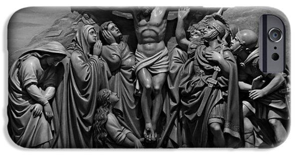 Holy Week iPhone Cases - Via Dolorosa Station XII iPhone Case by Stephen Stookey