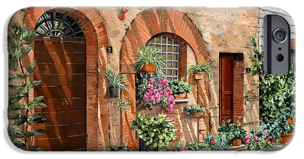 Tourism iPhone Cases - Viaggio In Toscana iPhone Case by Guido Borelli