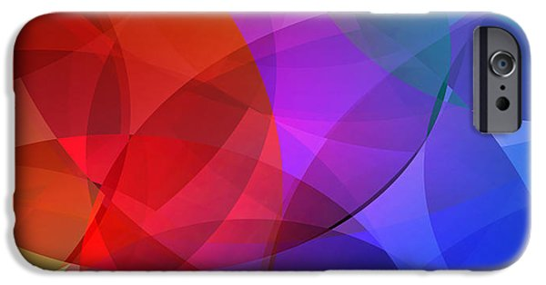 Vibrant Mixed Media iPhone Cases - Vibrant Circles of Color iPhone Case by Design Turnpike