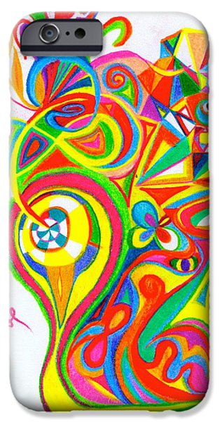 Vibrant Pastels iPhone Cases - Vibrant Flower Head iPhone Case by Cooper Molumby