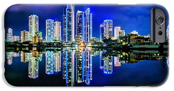 Symmetrical Photographs iPhone Cases - Gold Coast Shines iPhone Case by Az Jackson