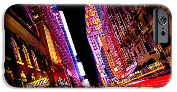 Times Square iPhone Cases - Vibrant New York City iPhone Case by Az Jackson
