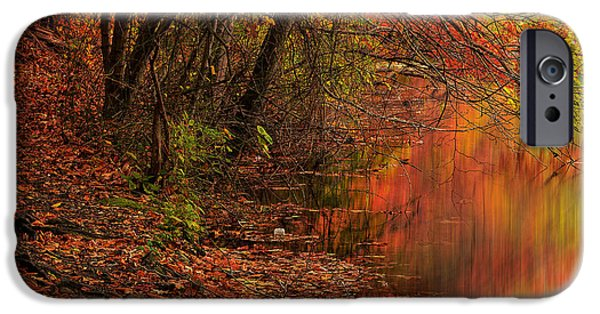 Autumn In New England iPhone Cases - Vibrant Reflection iPhone Case by Lourry Legarde