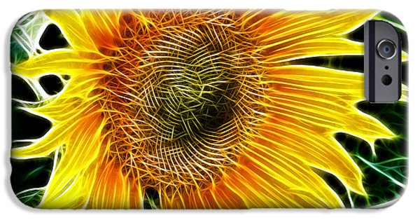 Flora iPhone Cases - Vibrant Sunflower iPhone Case by Mariola Bitner