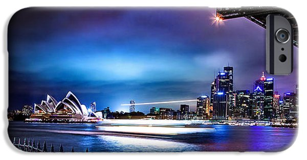 Business iPhone Cases - Vibrant Sydney Harbour iPhone Case by Az Jackson