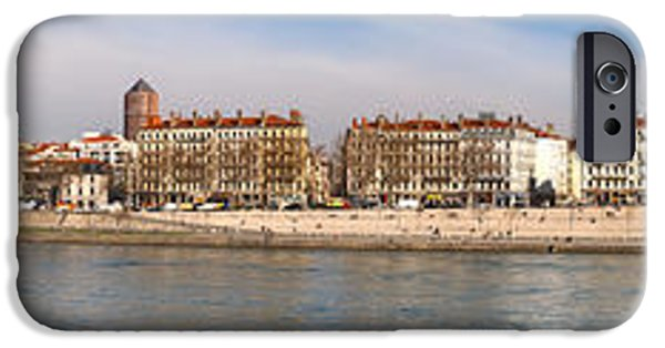 Rhone Alpes iPhone Cases - Victor Augagneur Bridge Over The Rhone iPhone Case by Panoramic Images