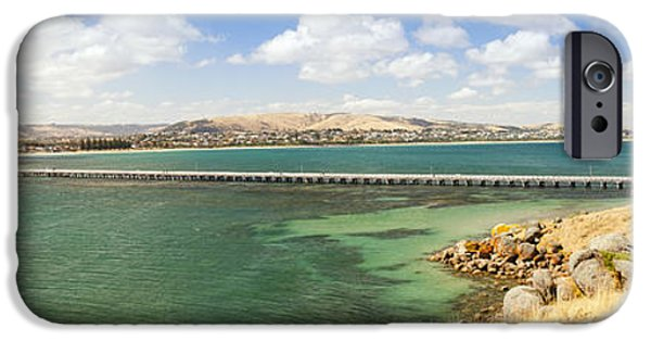 Fleurieu Peninsula iPhone Cases - Victor Harbour Panorama iPhone Case by Tim Hester