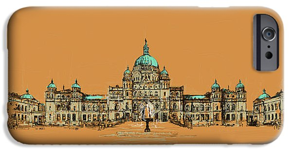 Corporate Art iPhone Cases - Victoria Art 005 iPhone Case by Catf