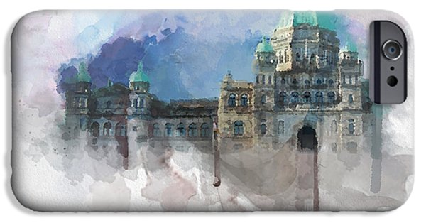 Bc Coast iPhone Cases - Victoria Scenery 4 iPhone Case by Mahnoor Shah