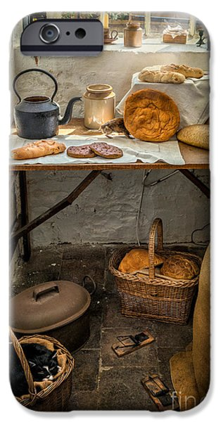 British Digital Art iPhone Cases - Victorian Bakers iPhone Case by Adrian Evans