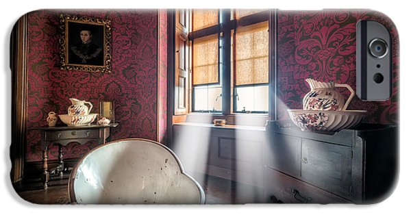 Blind iPhone Cases - Victorian Bathroom iPhone Case by Adrian Evans