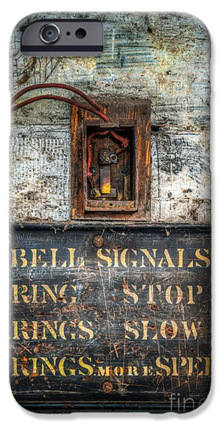 Workshop iPhone Cases - Victorian Bell Sign iPhone Case by Adrian Evans