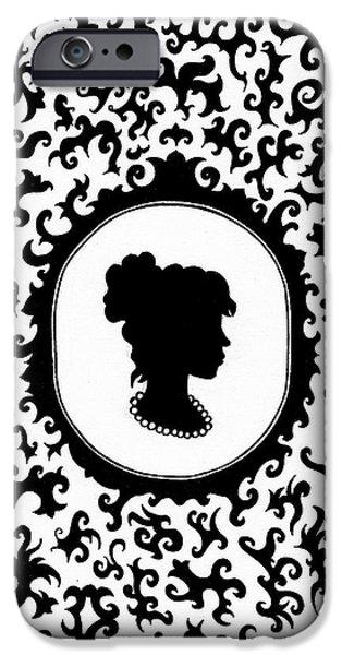 Victorian Cameo iPhone Case by Bonnie Leeman