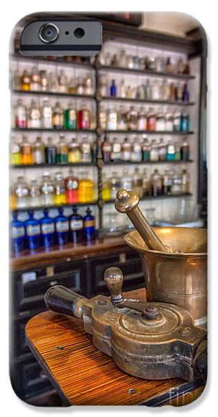 Pharmacy iPhone Cases - Victorian Chemist Equipment iPhone Case by Adrian Evans
