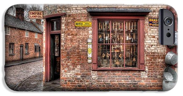 Bins iPhone Cases - Victorian Corner Shop iPhone Case by Adrian Evans