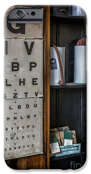 Union Digital Art iPhone Cases - Victorian Eye Chart iPhone Case by Adrian Evans