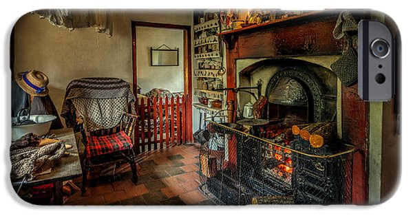 Union Digital Art iPhone Cases - Victorian Fire Place iPhone Case by Adrian Evans