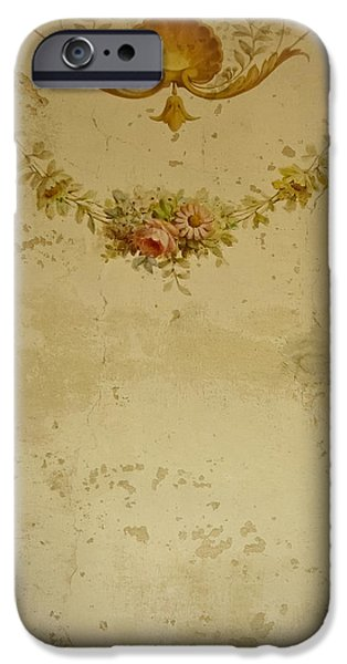 Painted Hall iPhone Cases - Victorian Floral Swag and Garland iPhone Case by Colleen Kammerer