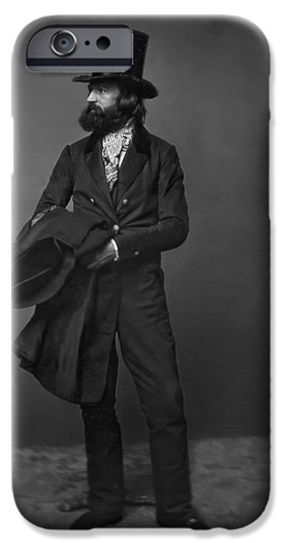 Beaver Digital iPhone Cases - VICTORIAN GENTLEMAN WILLIAM SIDNEY MOUNT c. 1853 iPhone Case by Daniel Hagerman