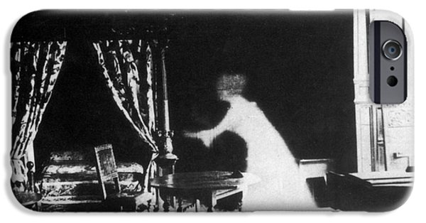 Manifestations iPhone Cases - Victorian Ghost 19th Century iPhone Case by Photo Researchers