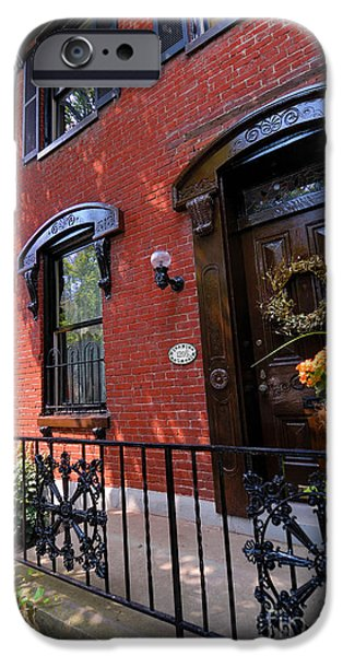 Victorian Home in Pittsburgh's Mexican War Streets iPhone Case by Amy Cicconi