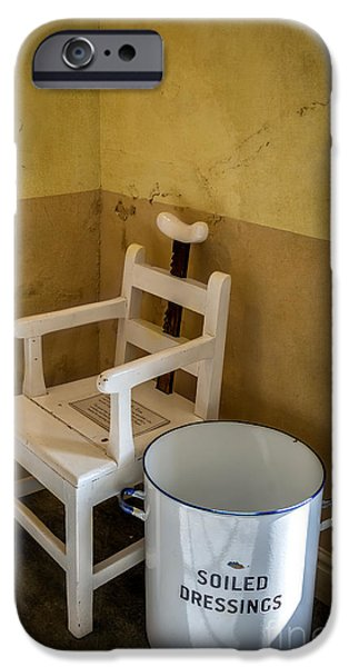 Soil Digital Art iPhone Cases - Victorian Hospital Chair iPhone Case by Adrian Evans