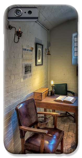 Ruler iPhone Cases - Victorian Jail Office iPhone Case by Adrian Evans