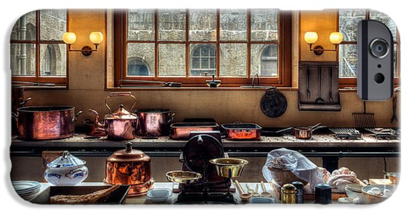 Scale Digital iPhone Cases - Victorian Kitchen iPhone Case by Adrian Evans