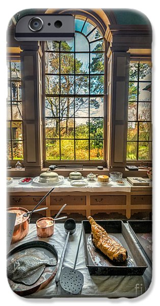 Joints iPhone Cases - Victorian Kitchen Window iPhone Case by Adrian Evans