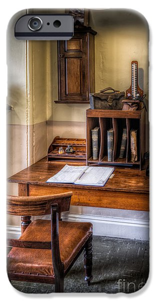 Medical Equipment iPhone Cases - Victorian Medical Office iPhone Case by Adrian Evans