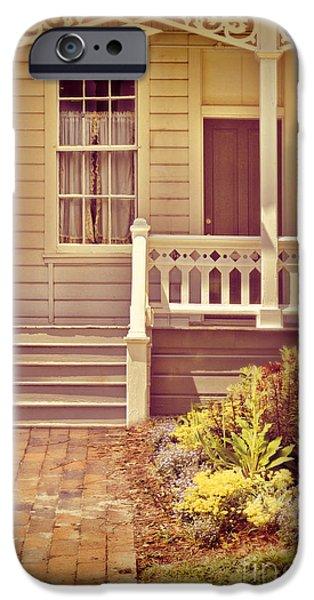 Clapboard House iPhone Cases - Victorian Porch iPhone Case by Jill Battaglia