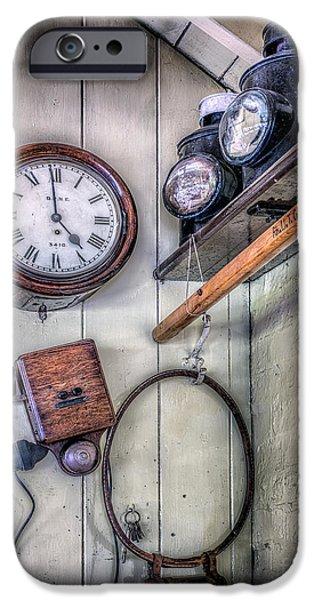 Victorian Train Memorabilia iPhone Case by Adrian Evans