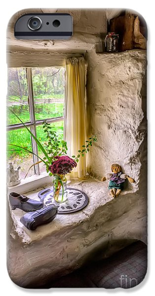 Ledge iPhone Cases - Victorian Window iPhone Case by Adrian Evans